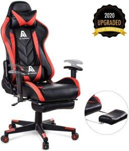 Racing Gaming chair with footrest