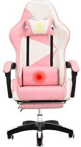 Gaming Chair with Lumbar Support & Footrest