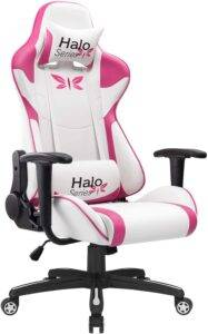 jummico pink gaming chair for girls