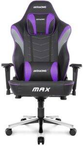 AKRacing Masters Series Max Gaming Chair with Wide Flat Seat Best Gaming Chair Under 500$